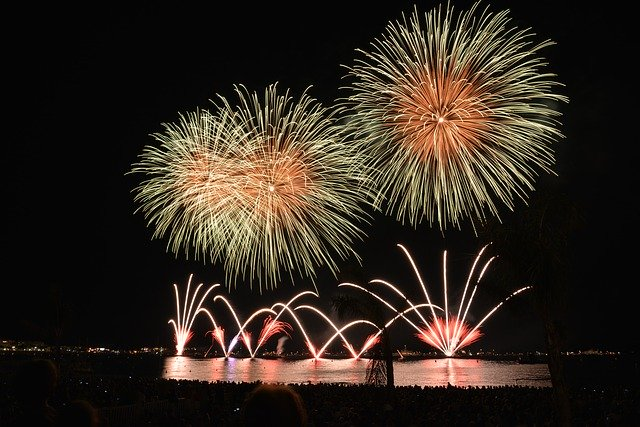 Fireworks at Sanur Beach